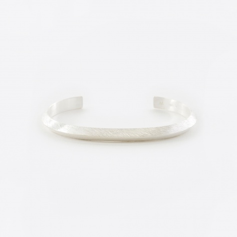 Triangle Bracelet - Polished/Brushed Silver