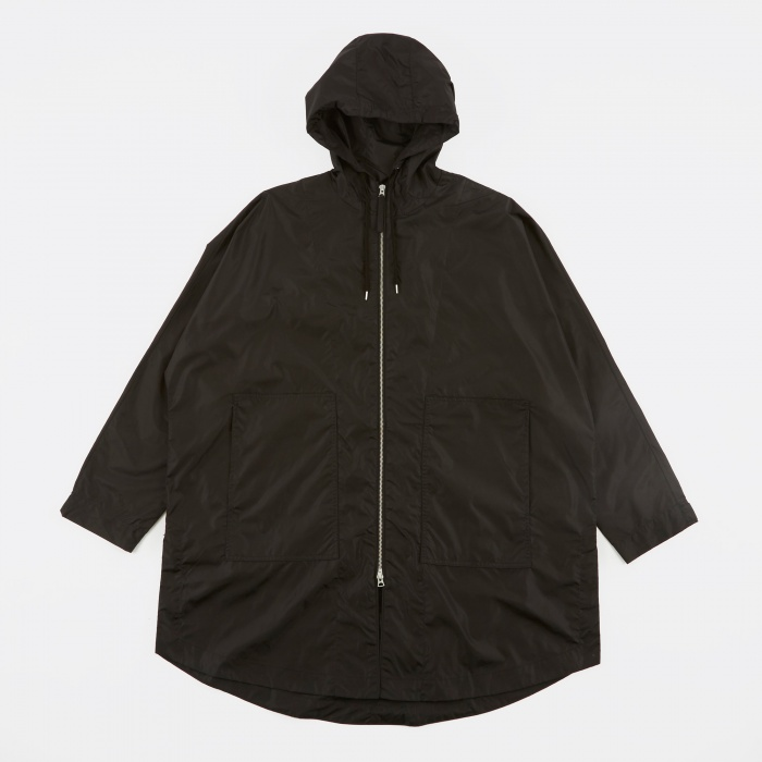 Our Legacy Fly Parka Jacket - Black Groove Nylon (Image 1)