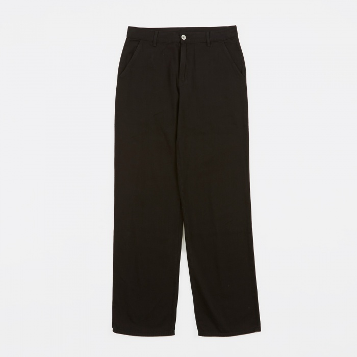 Our Legacy Denim Chino Trousers - Overdyed Black Denim (Image 1)