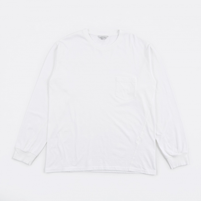 Unused Longsleeve Pocket Tee - White (Image 1)