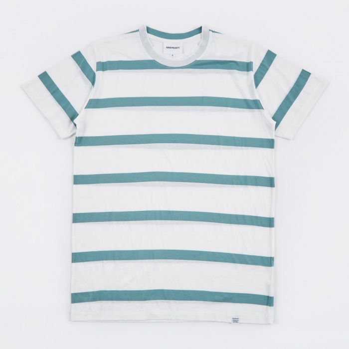 Norse Projects Niels Industrial Stripe T-Shirt - White (Image 1)