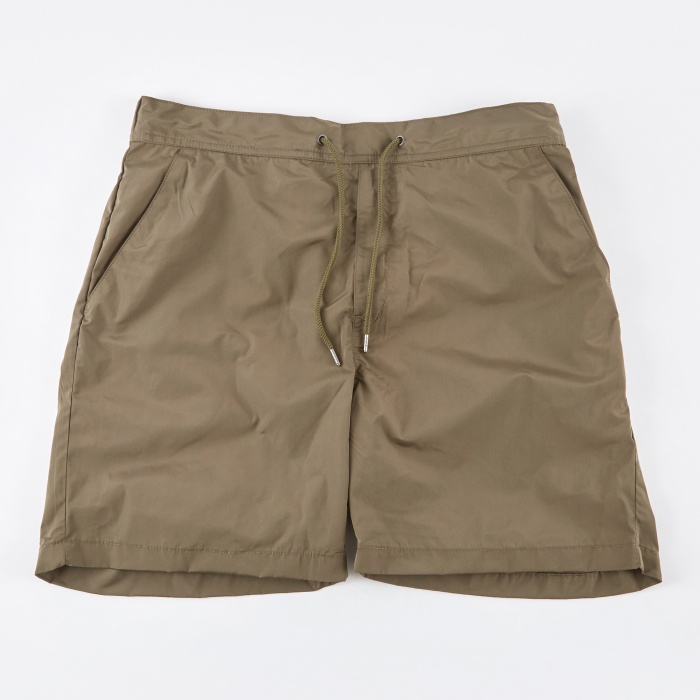 Norse Projects Hauge Nylon Shorts - Dried Olive (Image 1)