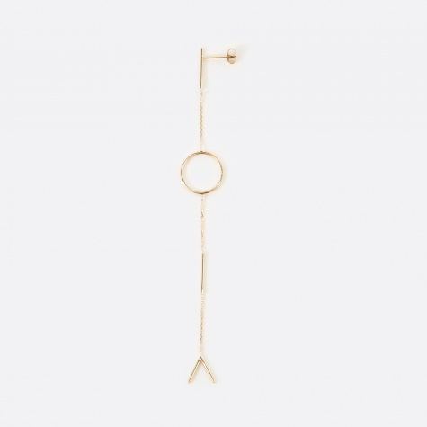 Graphic Earring - 9K Yellow Gold