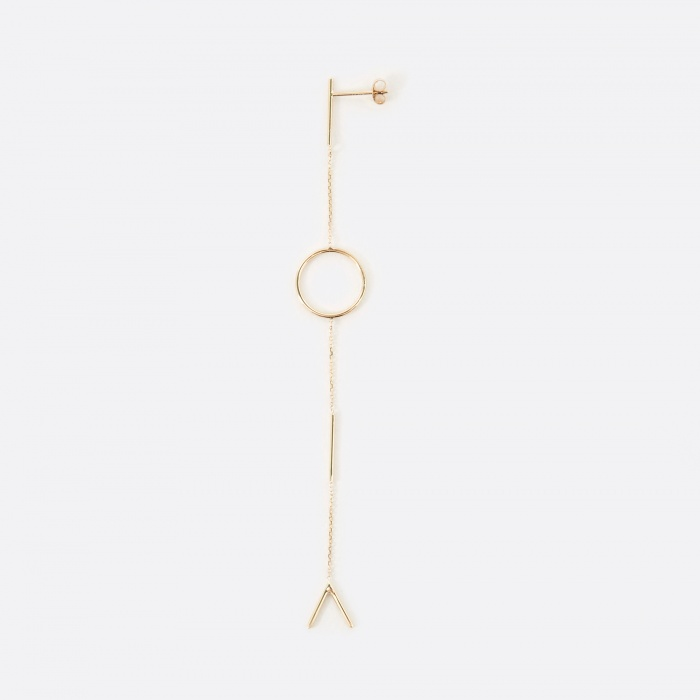 Sarah & Sebastian Graphic Earring - Gold (Image 1)