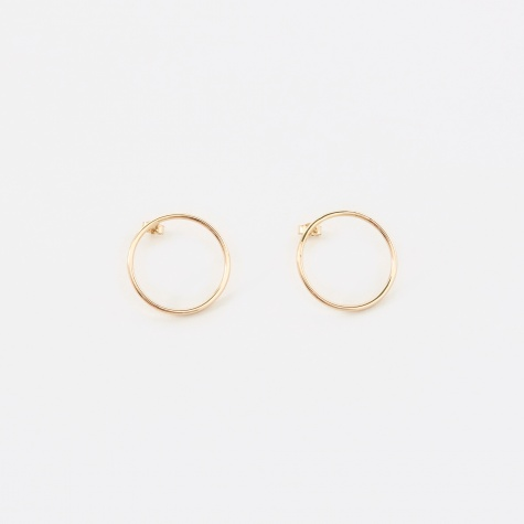 Circular Earrings - Gold