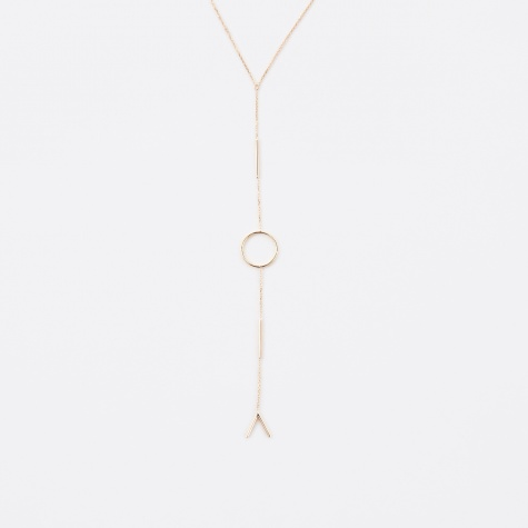 Graphic Necklace - 14K Yellow Gold