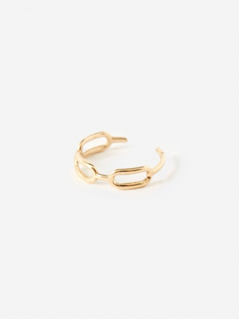Link Ear Cuff - 9K Yellow Gold
