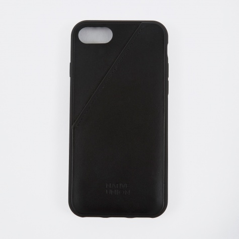Clic Card iPhone 7 Case - Black Leather
