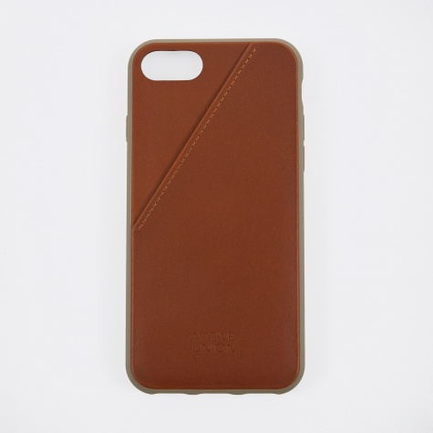 Clic Card iPhone 7 Case - Tan Leather