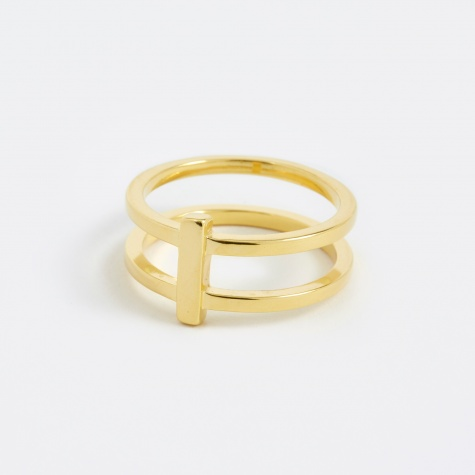 Row Ring - 14K Gold Plated