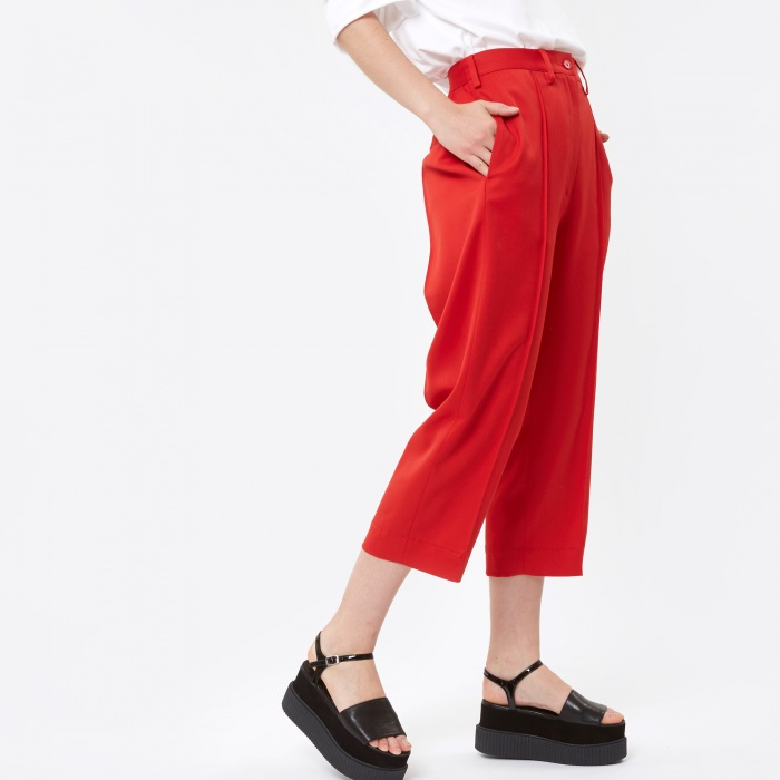 MM6 Maison Margiela MM6 Trousers - Red (Image 1)