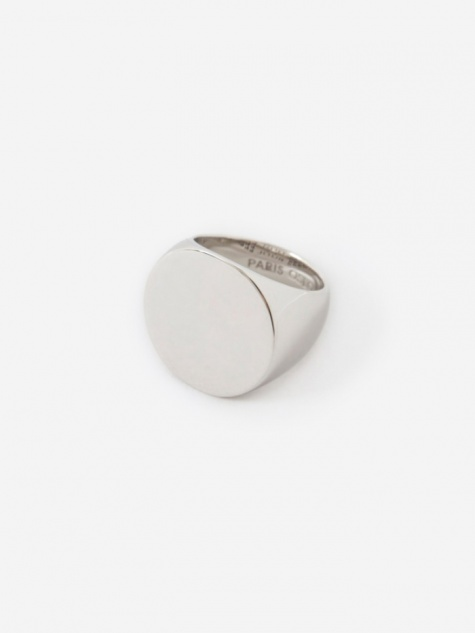 Clean Circle Ring - Polished Silver