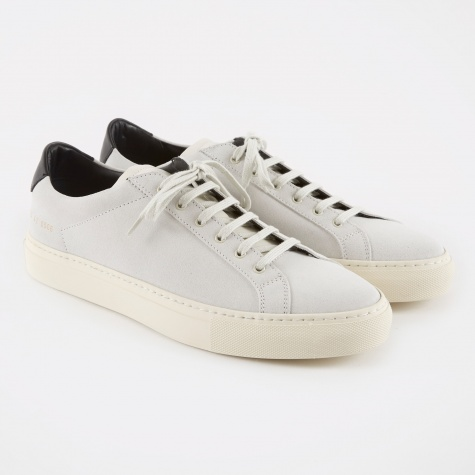 Achilles Retro Low Suede - White