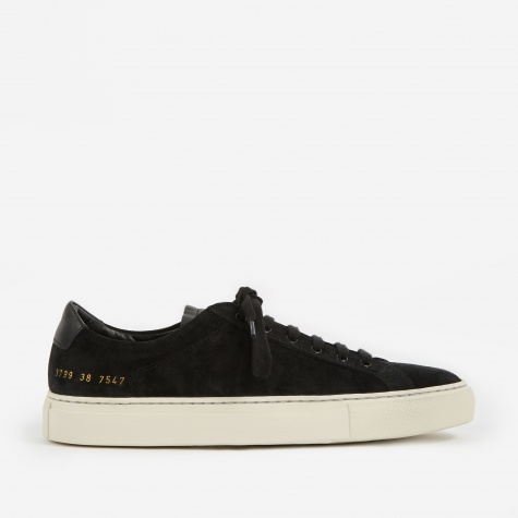 Achilles Retro Low Suede - Black