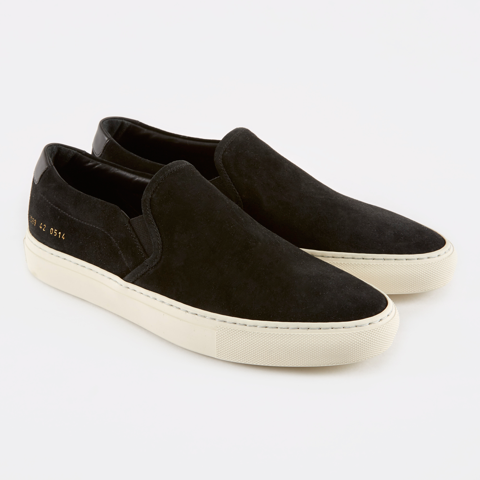 Common Projects Slip-On Retro Low Suede - Black 1e8d1ce15a43