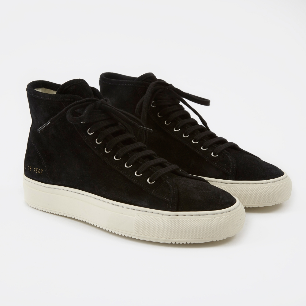14fad1e2a188 Common Projects Tournament High - Black Suede