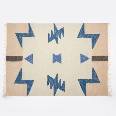 Kelim Rug - Blue Triangles - Large
