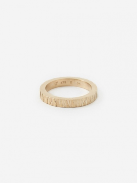 Large Structure Ring - 9K Gold