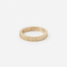 Tom Wood Large Structure Ring - 9K Gold
