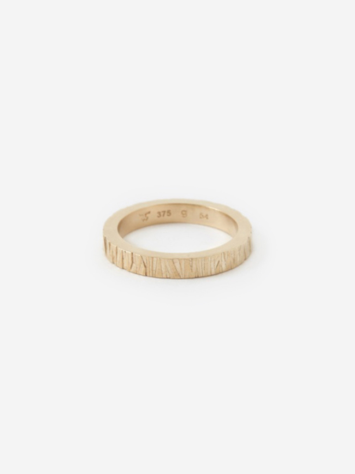 Tom Wood Large Structure Ring - 9K Gold (Image 1)