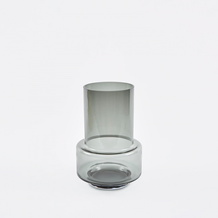 Ro Collection Hurricane Tea Light Holder - Smoked Grey (Image 1)