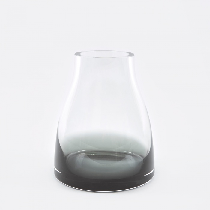 Ro Collection Flower Vase No.2 - Smoked Grey (Image 1)