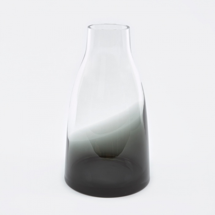 Ro Collection Flower Vase No.3 - Smoked Grey (Image 1)