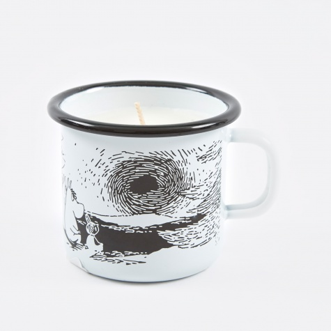 Moomin Sunset Enamel Mug With Candle 2,5dl - White