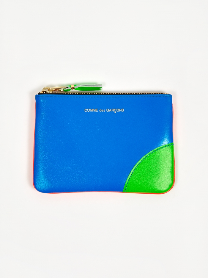 Comme des Garcons Wallets Super Fluo (SA8100SF) - Orange/Blue (Image 1)