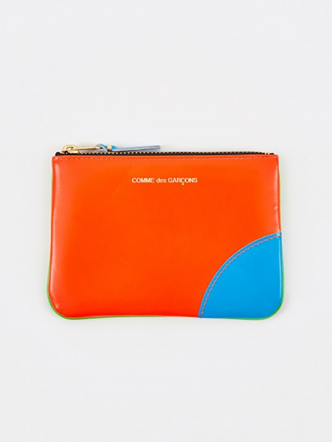 Comme Des Garcons Wallet Super Fluo (SA8100SF) - Green/Orange