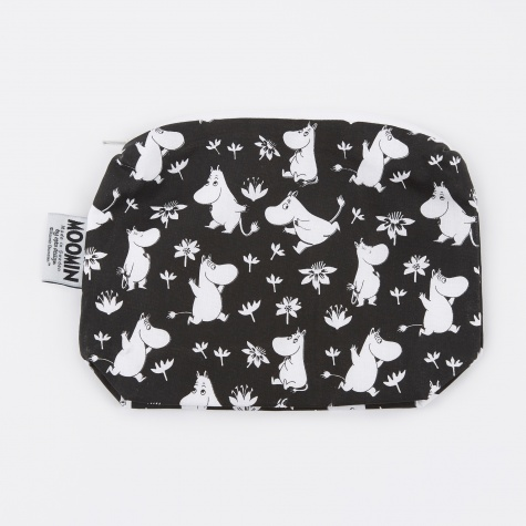 Moomin Fabric Makeup Case - Black