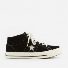 Converse One Star Mid - Black/Egret/Egret
