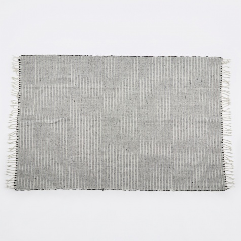 Francisco Grey & White Stripes Handwoven Rug