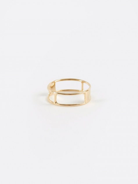 Doublestaff Ring - Yellow Gold