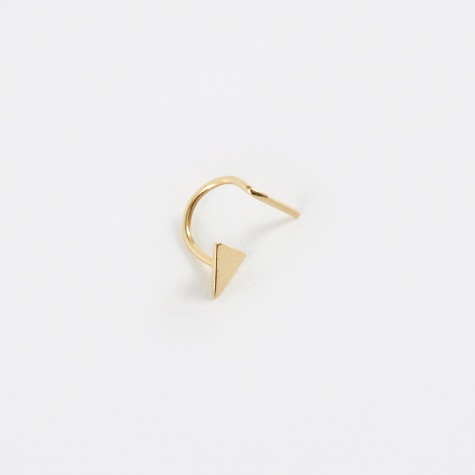 Triangle Earring - Yellow Gold