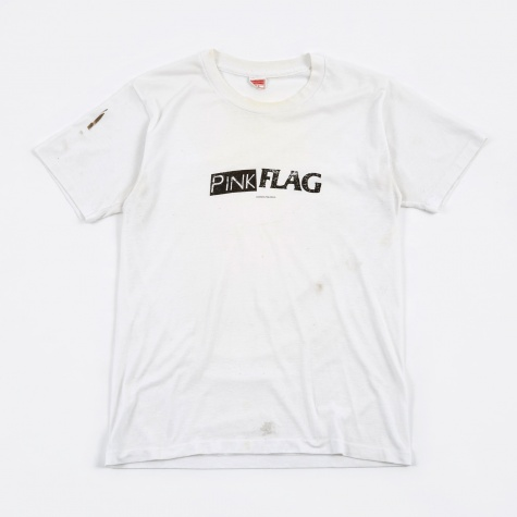 Pink Flag Vintage T-Shirt - White