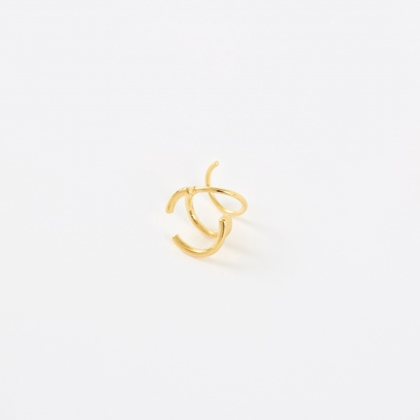 Bell Twirl Earring - 14K Gold Plated