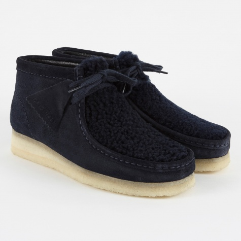 Clarks Wallabee Boot - Navy Suede