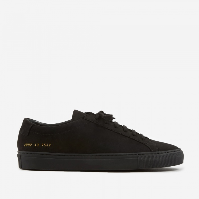Common Projects Original Achilles Low Nubuck - Black (Image 1)