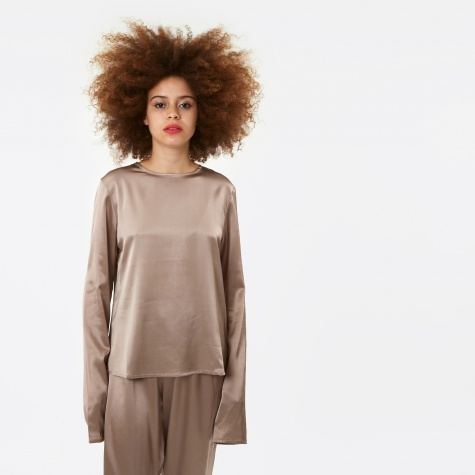 Domond Long Sleeve Top - Mountain Brown