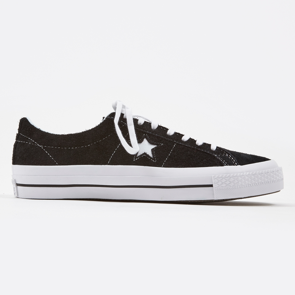 7d657afd5f8af1 Converse One Star Hairy Suede - Black