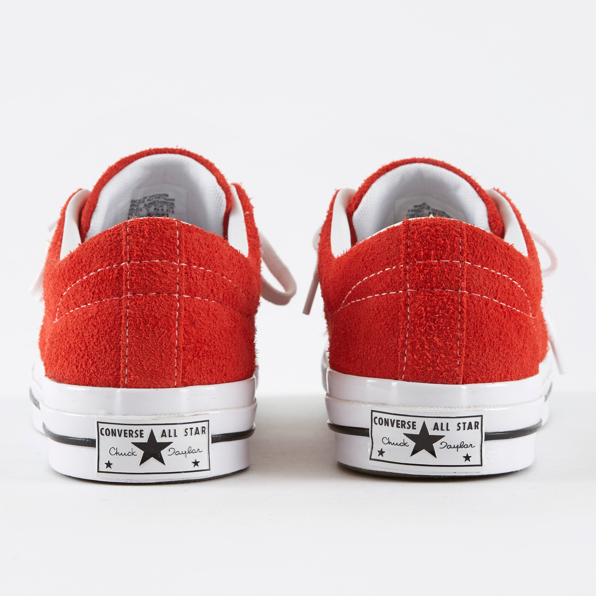 ef8c5a636f22fe Converse One Star Hairy Suede - Red