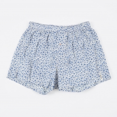 Druthers. Micro Floral Boxer Short - Light Blue