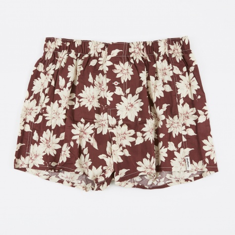 Real Floral Boxer Short - Burgundy