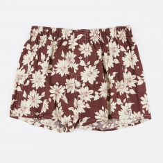 Druthers. Real Floral Boxer Short - Burgundy