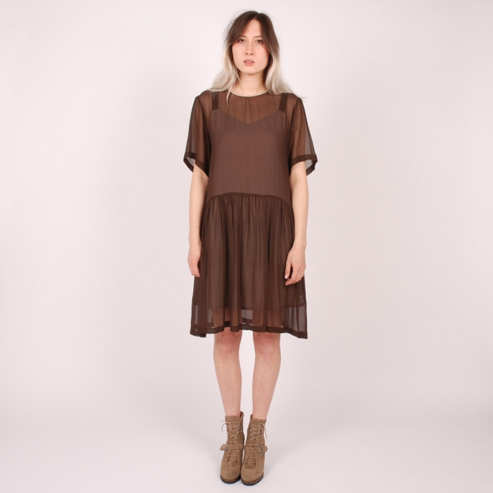 Antipodium Freudian Dress - Chocolate (Image 1)