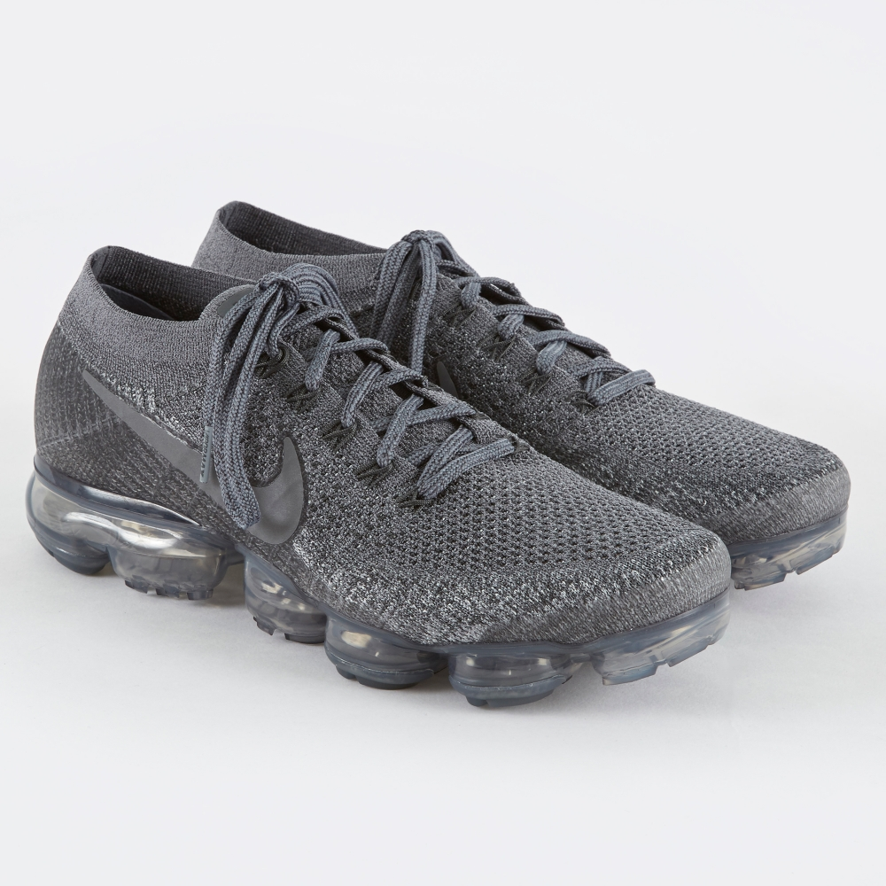 Nike NikeLab Air Vapormax Flyknit Shoe - Cool Grey/Dark Grey (Image 1)