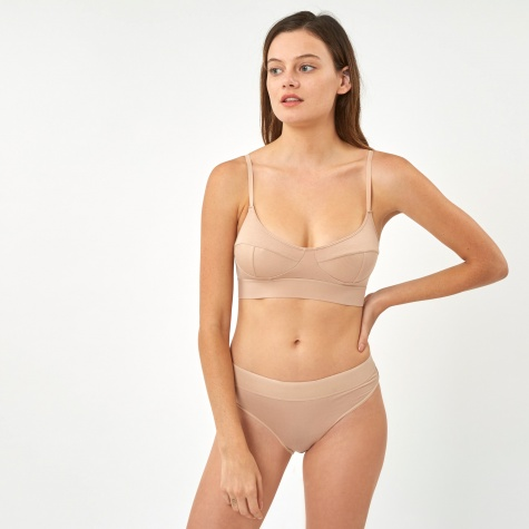 Base Range Soft Bra - Nude