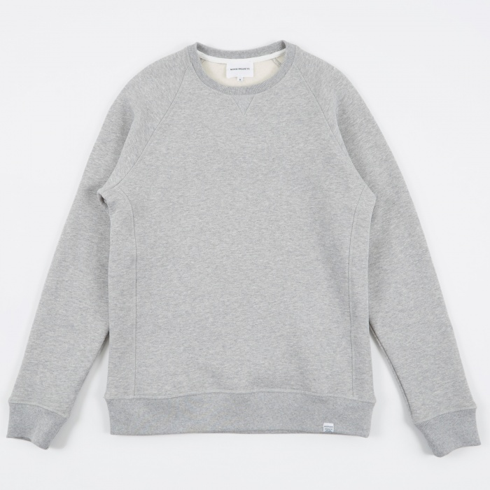 Norse Projects Ketel Classic Crew - Light Grey Melange (Image 1)