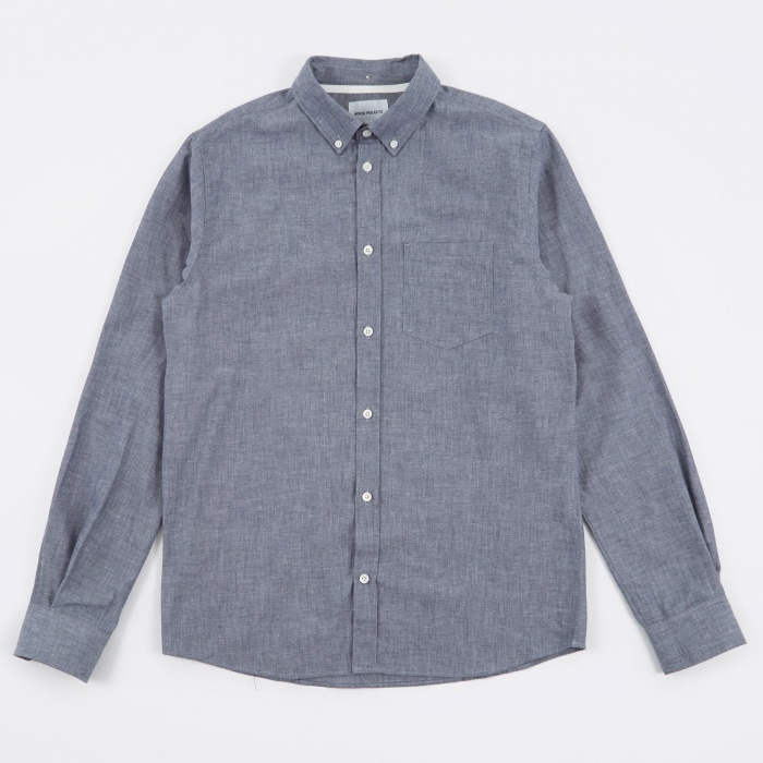 Norse Projects Anton Chambray  Shirt - Indigo (Image 1)